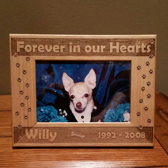 Memorial Dog Picture Frame Can Be Personalized 3 Sizes Available