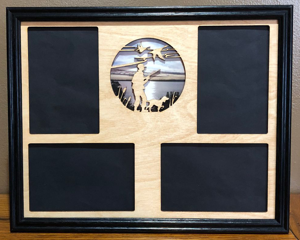 11x14 Duck Hunter Laser Engraved Picture Frame With 4