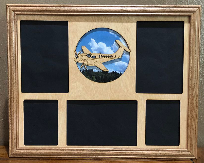 11x14 Six Flags Vacation Laser Engraved Picture Frame with 5  Photo Holes Collage